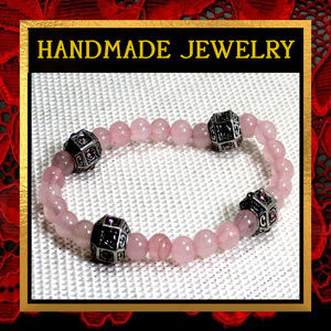Rose Quartz Gemstone Bracelet  #496